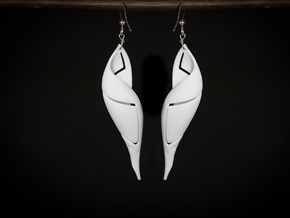 Signa Curve Earrings. in White Strong & Flexible