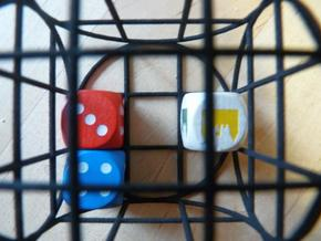 dice-cage! in White Strong & Flexible