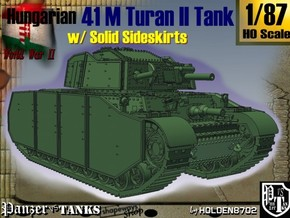 1-87 Hungarian 41M Turan II Solid Sideskirts in White Strong & Flexible