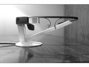Google Glass Charging Stand in White Strong & Flexible