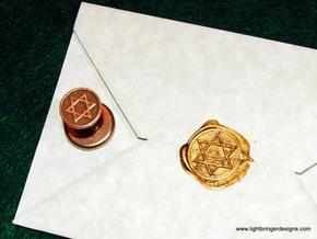 Star of David Wax Seal in Stainless Steel