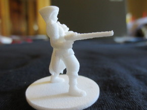 Adran, Elven Shotgun Ranger 1:54 scale in Raw Brass