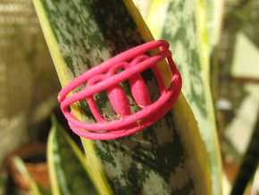 Sinusoidal 4 Ring in Red Strong & Flexible Polished