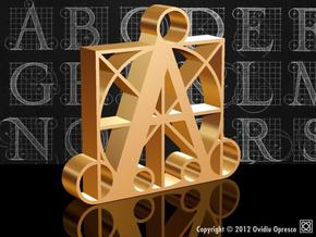 A - DURER (200%) in Polished Gold Steel