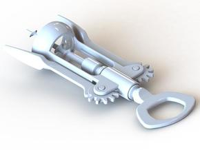 Corkscrew (Half Scale & Moving) in White Strong & Flexible
