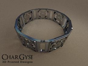 Bangle - Eight Petal Supported in Frosted Ultra Detail