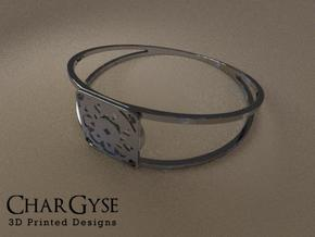 Elegant Bangle - Suspended Coin in Frosted Ultra Detail