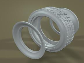 1/16 RESIN Racemaster Rear Midget Tire in Frosted Ultra Detail