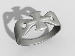 Cross ring US12 in Stainless Steel