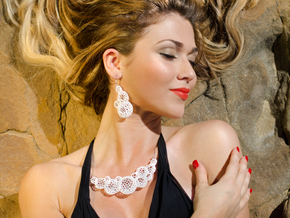 Star Coral Necklace in White Strong & Flexible Polished