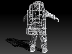 Astronaute WireFrame - PGM - 210mm in White Strong & Flexible