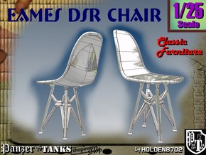1-25 Eames DSR Chair in White Strong & Flexible