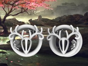 1 Inch Feminine Antler Tunnels in White Strong & Flexible Polished