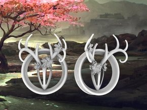 2 Inch Feminine Antler Tunnels in White Strong & Flexible Polished