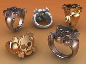 Skull IX Ring in Stainless Steel