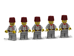 5 x Fez in White Strong & Flexible Polished