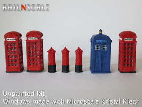 Street furniture SET (N 1:160) in Frosted Ultra Detail