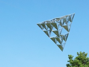 Tetrahedral Kite Kit 16-Cell in White Strong & Flexible