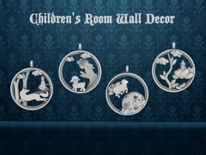 "Children's Wall Charms ""Jack and the Beanstalk"" in White Strong & Flexible Polished"