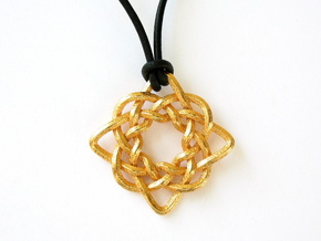 Celtic Compass in Polished Gold Steel