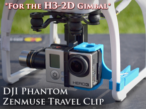 ZenClip - DJI Phantom 2 - Zenmuse H3-2D in White Strong & Flexible