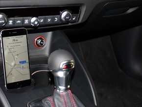 Audi A3/A4/RS3 iPhone 5/6/SE Adapter Cradle  in Black Strong & Flexible