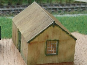 Corrugated Iron Shed 2mm/ft 1/152 (N scale) in Frosted Ultra Detail