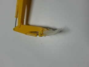 HO 1:87 excavator root Rhino attachment in Frosted Ultra Detail