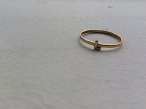 L Ring in Polished Brass