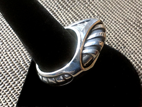 HyperDrive Ring - Size 12 (21.39 mm) in Polished Silver