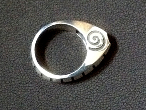 Fat Cat Ring - Size 8 (18.14 mm) in Polished Silver