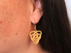Celtic Motherhood Knot Earrings in Matte Gold Steel