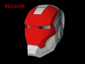 Iron Man Helmet Face Shield (Regular) Part 2 of 3 in White Strong & Flexible