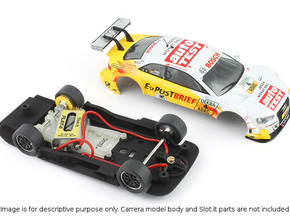S01-ST1 Chassis for Carrera Audi A5 DTM STD/LMP in White Processed Versatile Plastic