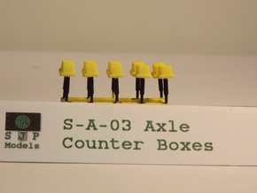 S-A-03 Axle Counters in Yellow Strong & Flexible Polished