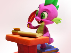 MyLittlePony - Spike, Take a Letter (≈130mm tall) in Full Color Sandstone