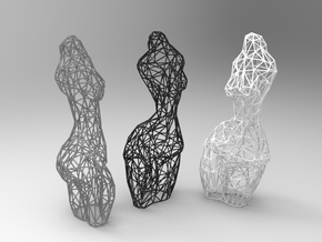 sculpture #48  in White Strong & Flexible
