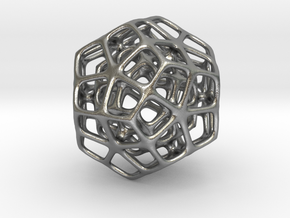 Double Dodecahedron Silver in Raw Silver