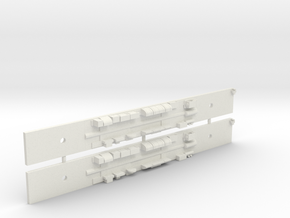 Comeng M Car Chassis Set - N Scale in White Strong & Flexible