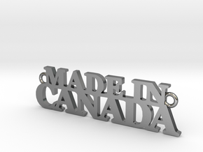 Made in CANADA Pendant in Polished Silver