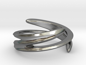 Fluid Twist (Inside diameter 16.6 mm) in Polished Silver