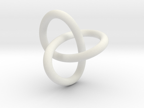 Classic Trefoil Knot 30mm in White Strong & Flexible