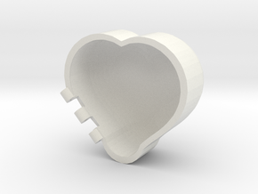 Rounded Heart Box in White Strong & Flexible