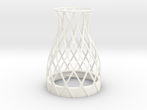 Vase Topper for Bonne Maman Jar in White Strong & Flexible Polished
