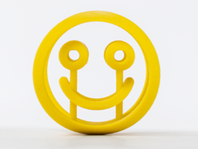 Smile/Sad (d=60mm) in Yellow Strong & Flexible Polished
