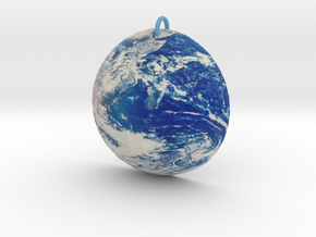 Planet Earth Pendant in Full Color Sandstone