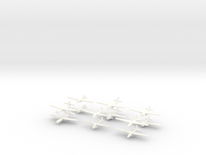 WW2 Gliders-36mm- (Qty. 12) in White Strong & Flexible Polished