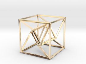 Distorted Tesseract in 14K Gold