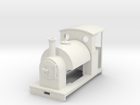 1:35 saddle tank loco open backed cab in White Strong & Flexible