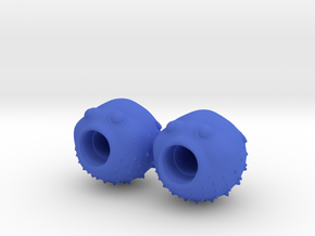 Blowfish Valve Caps - Shrader in Blue Strong & Flexible Polished